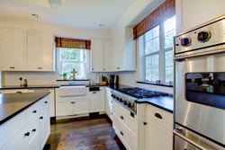 black granite white cabinets Granite kitchen - Toronto, ON MD Kitchen and Bath of Toronto